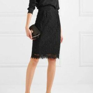 J Crew Lace Pencil Skirt in Black, size 0 NWOT